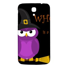 Who Is A Witch?   Purple Samsung Galaxy Mega I9200 Hardshell Back Case by Valentinaart