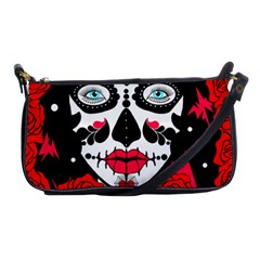 Sugar Skull Red Roses Shoulder Clutch Bags by burpdesignsA