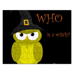 Who Is A Witch?   Yellow Rectangular Jigsaw Puzzl by Valentinaart