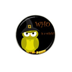 Who Is A Witch?   Yellow Hat Clip Ball Marker (10 Pack)