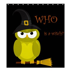 Who Is A Witch?   Yellow Shower Curtain 66  X 72  (large)