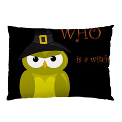Who Is A Witch?   Yellow Pillow Case (two Sides) by Valentinaart
