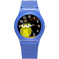 Who Is A Witch?   Yellow Round Plastic Sport Watch (s)