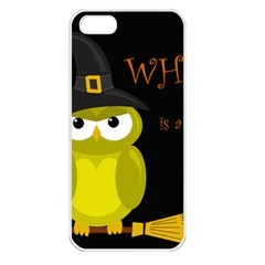 Who Is A Witch?   Yellow Apple Iphone 5 Seamless Case (white) by Valentinaart