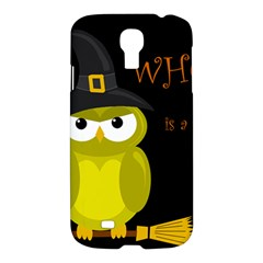 Who Is A Witch?   Yellow Samsung Galaxy S4 I9500/i9505 Hardshell Case by Valentinaart