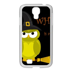 Who Is A Witch?   Yellow Samsung Galaxy S4 I9500/ I9505 Case (white) by Valentinaart