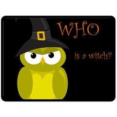 Who Is A Witch?   Yellow Double Sided Fleece Blanket (large)  by Valentinaart