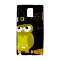 Who Is A Witch?   Yellow Samsung Galaxy Note 4 Hardshell Case by Valentinaart
