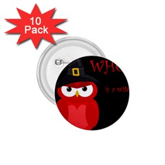 Who Is A Witch?   Red 1 75  Buttons (10 Pack) by Valentinaart