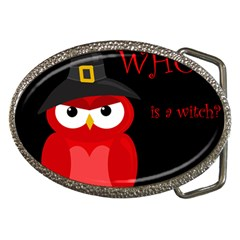 Who Is A Witch?   Red Belt Buckles by Valentinaart