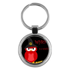 Who Is A Witch?   Red Key Chains (round)  by Valentinaart