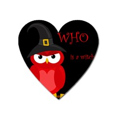 Who Is A Witch?   Red Heart Magnet by Valentinaart
