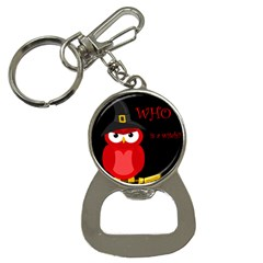 Who Is A Witch?   Red Bottle Opener Key Chains by Valentinaart