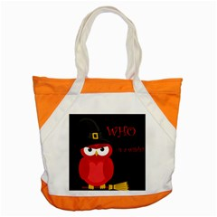 Who Is A Witch?   Red Accent Tote Bag