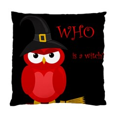 Who Is A Witch?   Red Standard Cushion Case (two Sides) by Valentinaart