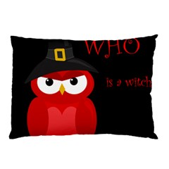 Who Is A Witch?   Red Pillow Case by Valentinaart