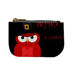 Who Is A Witch?   Red Mini Coin Purses by Valentinaart