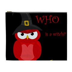 Who Is A Witch?   Red Cosmetic Bag (xl) by Valentinaart