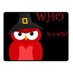 Who Is A Witch?   Red Fleece Blanket (small)