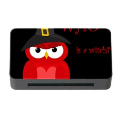 Who Is A Witch?   Red Memory Card Reader With Cf by Valentinaart
