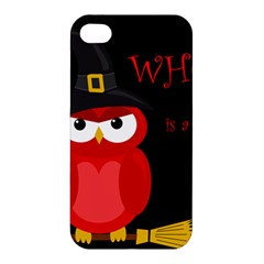 Who Is A Witch?   Red Apple Iphone 4/4s Hardshell Case by Valentinaart