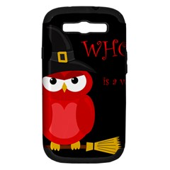 Who Is A Witch?   Red Samsung Galaxy S Iii Hardshell Case (pc+silicone) by Valentinaart