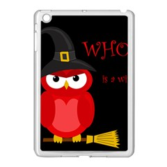 Who Is A Witch?   Red Apple Ipad Mini Case (white) by Valentinaart