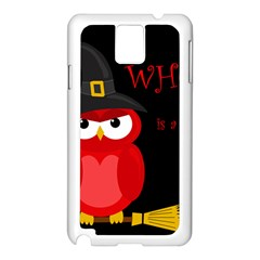 Who Is A Witch?   Red Samsung Galaxy Note 3 N9005 Case (white) by Valentinaart