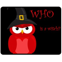 Who Is A Witch?   Red Double Sided Fleece Blanket (medium)