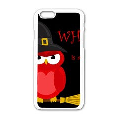 Who Is A Witch?   Red Apple Iphone 6/6s White Enamel Case by Valentinaart
