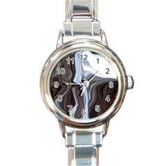 Metallic And Chrome Round Italian Charm Watch by digitaldivadesigns