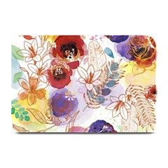 Watercolor Spring Flowers Background Plate Mats by TastefulDesigns
