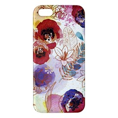 Watercolor Spring Flowers Background Apple Iphone 5 Premium Hardshell Case by TastefulDesigns