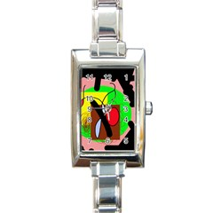 Fantasy  Rectangle Italian Charm Watch by Valentinaart