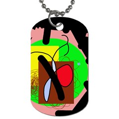 Fantasy  Dog Tag (one Side) by Valentinaart