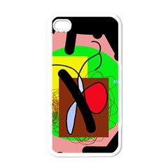 Fantasy  Apple Iphone 4 Case (white) by Valentinaart