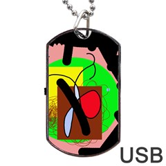Fantasy  Dog Tag Usb Flash (one Side) by Valentinaart
