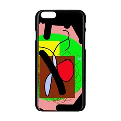 Fantasy  Apple Iphone 6/6s Black Enamel Case by Valentinaart
