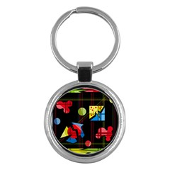 Playful Day Key Chains (round)  by Valentinaart