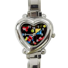 Playful Day Heart Italian Charm Watch by Valentinaart
