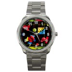 Playful day Sport Metal Watch Front