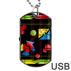 Playful Day Dog Tag Usb Flash (two Sides)  by Valentinaart