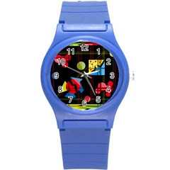 Playful Day Round Plastic Sport Watch (s)
