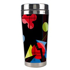 Playful Day Stainless Steel Travel Tumblers by Valentinaart
