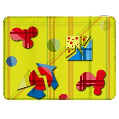 Playful Day   Yellow  Samsung Galaxy Tab 7  P1000 Flip Case by Valentinaart