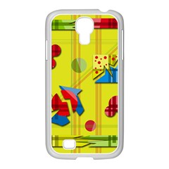Playful Day   Yellow  Samsung Galaxy S4 I9500/ I9505 Case (white) by Valentinaart