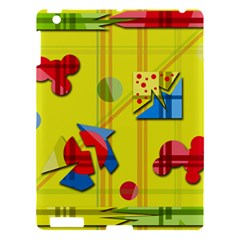 Playful Day   Yellow  Apple Ipad 3/4 Hardshell Case by Valentinaart