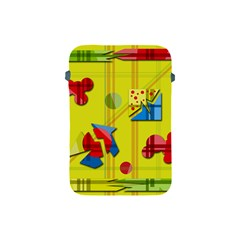 Playful Day   Yellow  Apple Ipad Mini Protective Soft Cases by Valentinaart