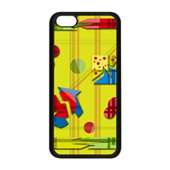 Playful Day   Yellow  Apple Iphone 5c Seamless Case (black) by Valentinaart