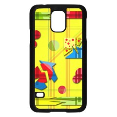 Playful Day   Yellow  Samsung Galaxy S5 Case (black) by Valentinaart